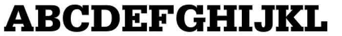 Serifa 75 Black Font UPPERCASE