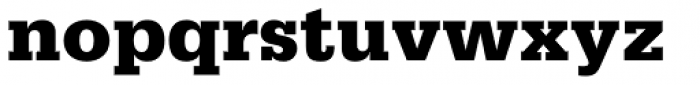 Serifa 75 Black Font LOWERCASE