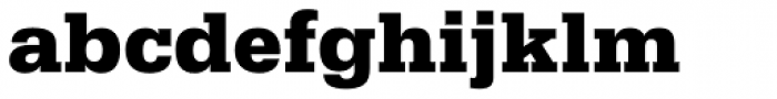 Serifa Black Font LOWERCASE