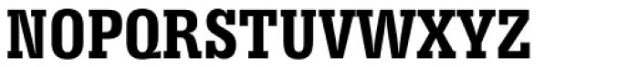 Serifa Bold Condensed Font UPPERCASE