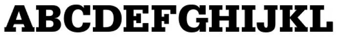 Serifa D Bold Font UPPERCASE