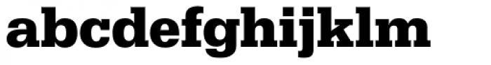 Serifa D Bold Font LOWERCASE