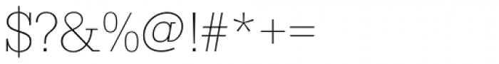 Serifa D Thin Font OTHER CHARS
