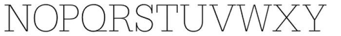 Serifa D Thin Font UPPERCASE