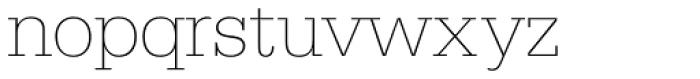 Serifa D Thin Font LOWERCASE