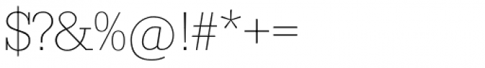Serifa SH ExtraLight Font OTHER CHARS