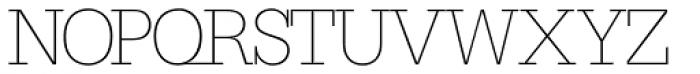 Serifa SH ExtraLight Font UPPERCASE