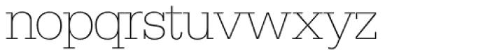 Serifa SH ExtraLight Font LOWERCASE