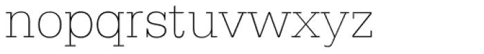 Serifa Thin Font LOWERCASE