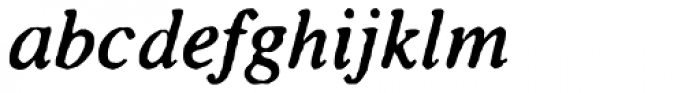 Seriffi Morgan Italic Font LOWERCASE