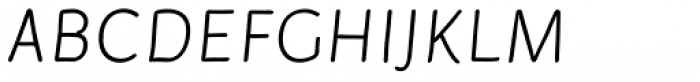 Serious Sans Pro Italic Font UPPERCASE