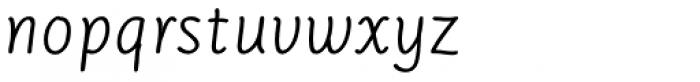 Serious Sans Pro Italic Font LOWERCASE