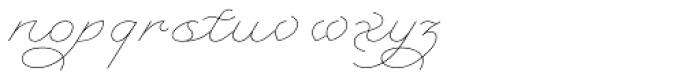 Serofina Thin Font LOWERCASE