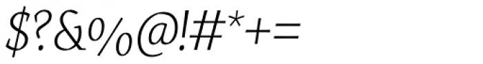 Servus Slab Extra Light Italic Font OTHER CHARS