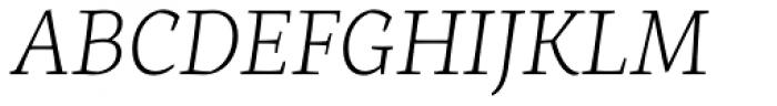 Servus Slab Extra Light Italic Font UPPERCASE