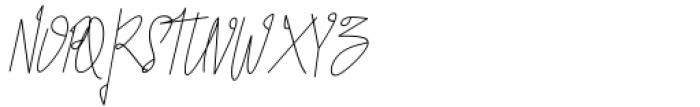 Seventeen Winter Signature Font UPPERCASE