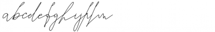Seventeen Winter Signature Font LOWERCASE