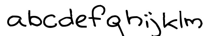 Senty Cream Puff Handwriting Font LOWERCASE