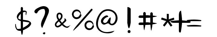Senty Golden Bell Handwriting Font OTHER CHARS