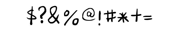 Senty Pea Handwriting Font OTHER CHARS
