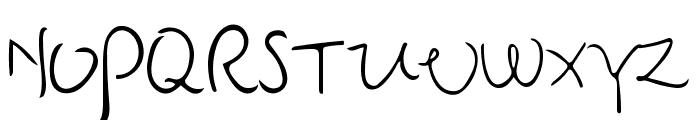 Senty Pea Handwriting Font UPPERCASE