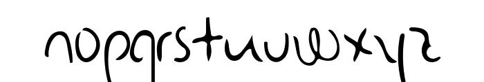 Senty Pea Handwriting Font LOWERCASE