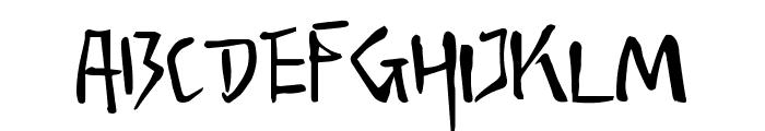 Senty Snow Mountain Handwriting Font UPPERCASE