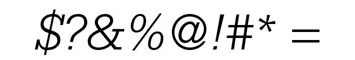 SerifaStd-LightItalic Font OTHER CHARS