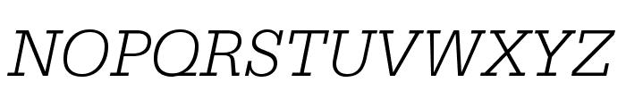 SerifaStd-LightItalic Font UPPERCASE