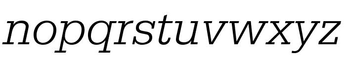 SerifaStd-LightItalic Font LOWERCASE