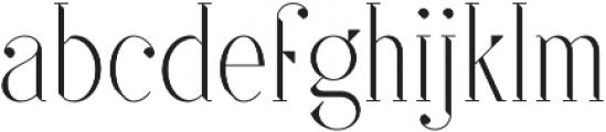 SF Kingston otf (200) Font LOWERCASE