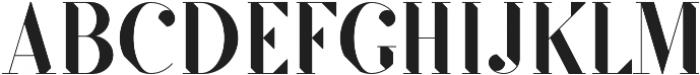 SF Kingston otf (500) Font UPPERCASE
