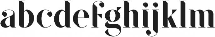 SF Kingston otf (500) Font LOWERCASE