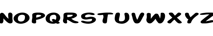 SF Action Man Extended Bold Font LOWERCASE
