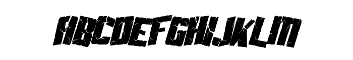 SF Aftershock Debris Condensed Italic Font LOWERCASE