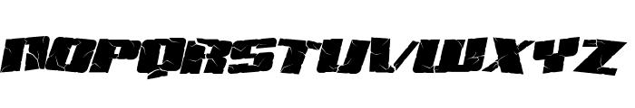 SF Aftershock Debris Italic Font UPPERCASE