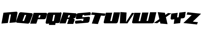 SF Aftershock Debris Solid Italic Font UPPERCASE