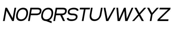 SF Arborcrest Medium Oblique Font UPPERCASE