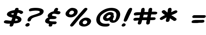 SF Arch Rival Extended Italic Font OTHER CHARS