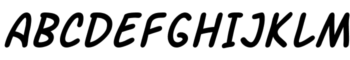 SF Arch Rival Italic Font UPPERCASE