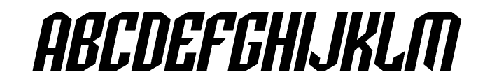 SF Archery Black Oblique Font UPPERCASE