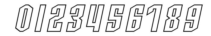 SF Archery Black Outline Oblique Font OTHER CHARS