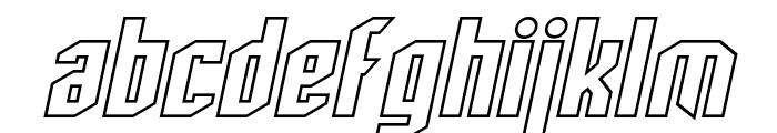 SF Archery Black Outline Oblique Font LOWERCASE