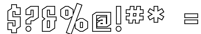 SF Archery Black Outline Font OTHER CHARS