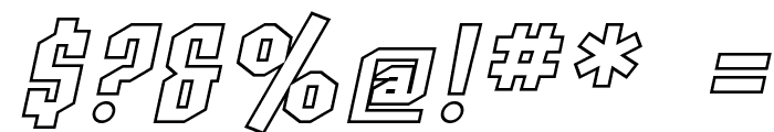 SF Archery Black SC Outline Oblique Font OTHER CHARS