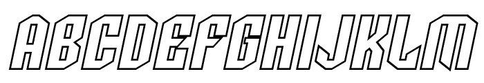 SF Archery Black SC Outline Oblique Font LOWERCASE