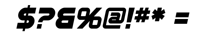 SF Automaton Bold Oblique Font OTHER CHARS