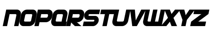 SF Automaton Bold Oblique Font UPPERCASE