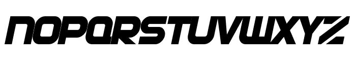 SF Automaton Bold Oblique Font LOWERCASE