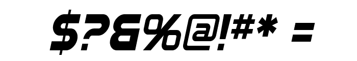 SF Automaton Condensed Oblique Font OTHER CHARS
